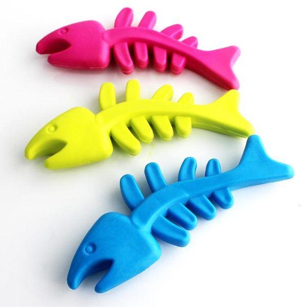 【狐狸跑跑】寵物玩具狗狗玩具TPR橡膠玩具 磨牙健齒 魚骨頭玩具WJ008300