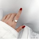 指環貝母貝殼金色開口個性女戒指【小酒窝服饰】