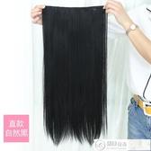 假髮 u型假髮女長捲髮大波浪網紅可愛長髮一片式蓬鬆自然長直髮假髮片 城市科技