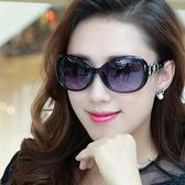 優雅太陽鏡眼鏡復古圓臉墨鏡