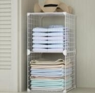 衣柜內部收納分格分層放衣服的小柜子簡易臥室小型家用組合儲物柜