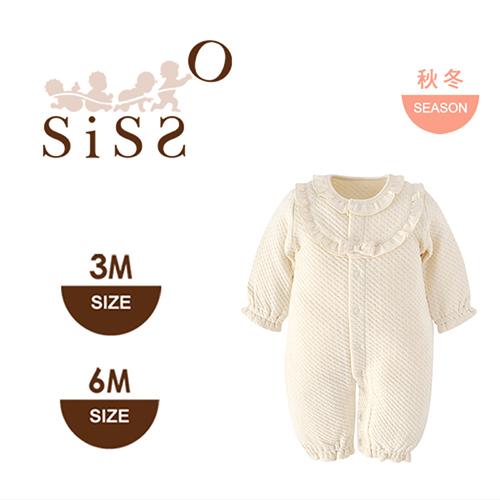 【SISSO有機棉】夏綠蒂皇家緹花空氣棉兩用兔裝 3M 6M