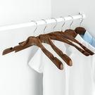 ✭米菈生活館✭【J147】仿木紋復古款衣架 男女 寬肩 衣撐 外套 大衣 懸掛 晾曬 衣櫃 質感