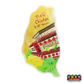 【收藏天地】台灣紀念品*米亞島型冰箱貼-阿妹茶樓 ∕  磁鐵  彩繪 觀光 禮品 辦公小物