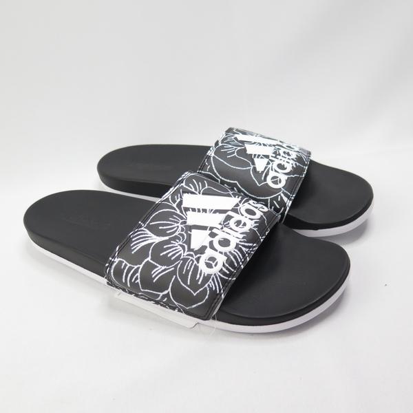 ADIDAS ADILETTE COMFOR 拖鞋 記憶鞋墊 FV6331 黑色花紋 男女款【iSport愛運動】