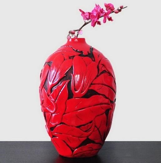 【協貿國際】創意花瓶花影橢圓形花器