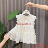 女童連身裙洋氣兒童小童嬰兒周歲生日衣服夏季女寶寶公主裙子【齊心88】