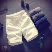 夏季男士短褲正韓夏天五分褲棉麻沙灘褲休閒男生港風潮褲子禮物限時八九折