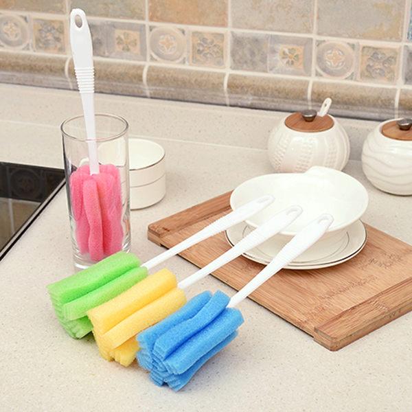 【TT470】洗杯子 加長海綿衛生刷 洗杯刷 清潔刷 (不挑色/款)1個入
