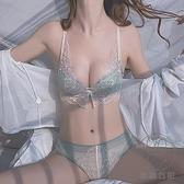 無鋼圈內衣女小胸聚攏調整型收副乳性感蕾絲文胸套裝薄款【貼身日記】