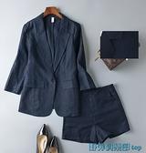 亞麻西裝外套 亞麻西服套裝女時尚氣質韓版休閑棉麻小西裝外套修身2021夏季薄款 快速出貨