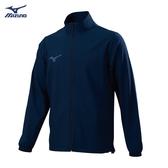 MIZUNO Slim FIT 男裝 外套 運動套裝 平織 彈性 合身版型 深藍 丈青【運動套裝】32TC858414