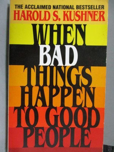 【書寶二手書T2/原文書_MRO】When Bad Things Happen to Good People