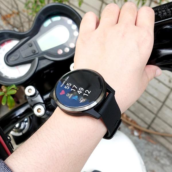 GARMIN / 010-02174-15 / vivoactive 4 GPS 智慧腕錶 矽膠手錶 石墨黑色 45mm