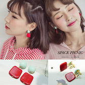 耳環 Space Picnic|預購.色塊幾何設計耳夾/耳針【C18073005】