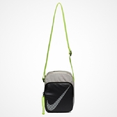 NIKE HERITAGE SMIT 2.0  黑 灰 螢光綠 側背包 隨身小包 (布魯克林) BA6060-008