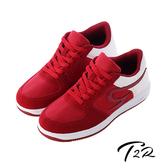 【韓國T2R】運動時尚內增高6公分AIR休閒鞋 6CM 酒紅(5600-0232)