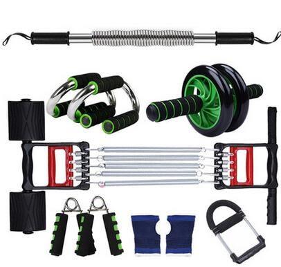男士家用健身器材組合臂力器健腹輪拉力器腕力器握力器鍛煉套裝
