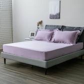HOLA 雅逸天絲素色系列 歐式枕套 2入 湖紫色