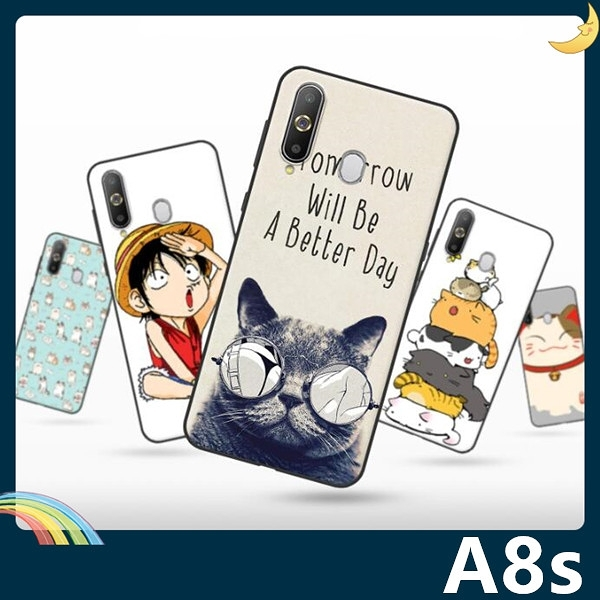 三星 Galaxy A8s 彩繪Q萌保護套 軟殼 卡通塗鴉 超薄防指紋 全包款 矽膠套 手機套 手機殼