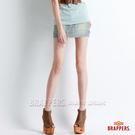 BRAPPERS 女款 Boy Friend Jeans系列-迷你裙-藍白橫條