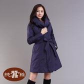 【岱妮蠶絲】極輕量舖蠶絲長版外套(深紫)