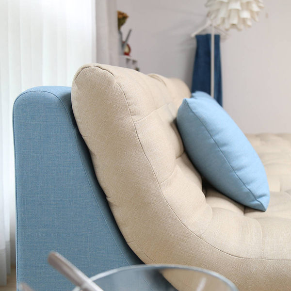 Cloudy雲朵超柔軟防潑水L型沙發/台灣製造(RFY/A001藍色L型沙發(面6103 椅身6129))【DD House】