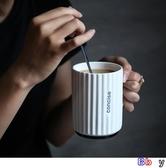 伊人 陶瓷杯 喝水杯 馬克杯 帶蓋勺 北歐杯子 咖啡杯 陶瓷水杯