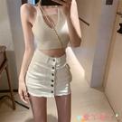 超短裙半身裙2021新款春夏時尚韓版高腰緊身顯瘦包臀a字牛仔短褲裙女裝 愛丫