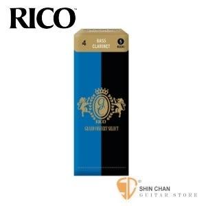 4號豎笛/黑管竹片 美國 RICO Grand Concert Select 低音 Bass Clarinet (5片/盒)【藍黑包裝】