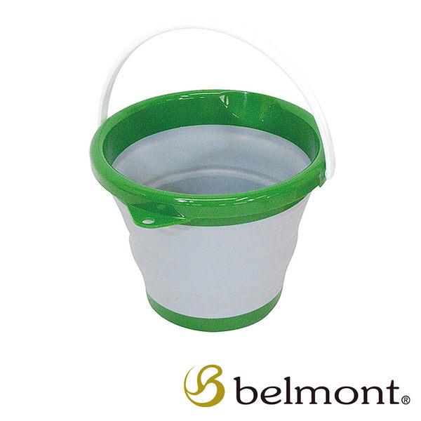 BELMONT 日本 摺疊水桶〈綠色〉戶外│露營│精品 MR-001
