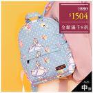 媽媽包-(中)迪士尼造型愛麗絲點點保冷多功能後背包/媽媽包-單1款-A12121488-天藍小舖
