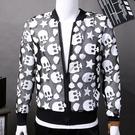 找到自己 MD 韓國 潮 男 時尚 休閒 透氣 夾克 薄款 網面骷髏頭 防曬衣 長袖外套 風衣外套