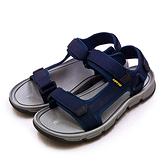 LIKA夢 LOTTO 輕量織帶戶外運動涼鞋 城市輕履系列 藍灰 1676 男