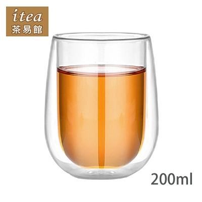 蛋形雙層玻璃杯180mlx3入