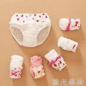 兒童內褲 女童內褲女寶棉寶寶幼兒童幼童小童三角嬰兒面包褲綠光森林