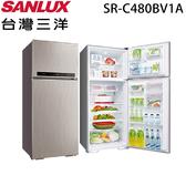 【SANLUX 三洋】480公升變頻雙門冰箱SR-C480BV1A