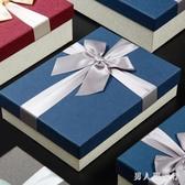 禮品盒長方形禮盒蝴蝶結高檔精美韓版生日口紅禮物盒包裝盒空盒子 FF3642【男人與流行】