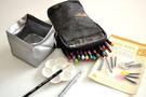 日本AKASHIYA 彩SAI彩繪毛筆戶外旅行包*灰黑色