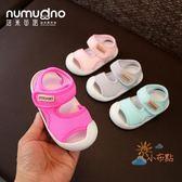 涼鞋女嬰兒涼鞋1-2歲寶寶不掉鞋軟底男童鞋包頭12個月幼兒學步涼鞋夏全館免運