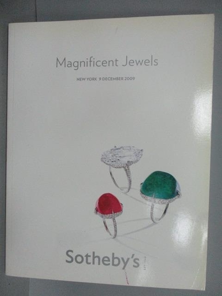 【書寶二手書T1/收藏_PCQ】Sotheby s_Magnificent Jewels_2009/12/9