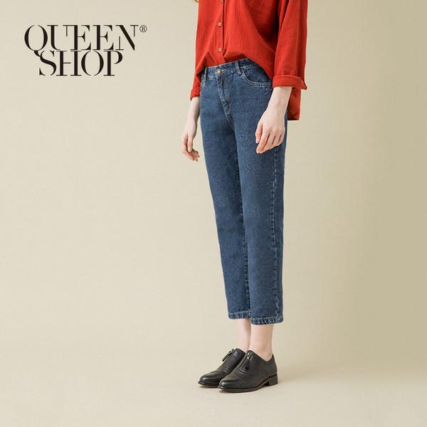 復古刷色深藍牛仔褲