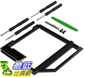 [106美國直購] Sabrent BK-HDCT Data Doubler Optical Bay to Hard Drive/SSD Caddy Tray Adapter 適用MacBook/Pro/Air