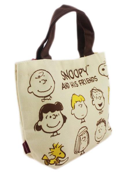 【卡漫城】 Snoopy 帆布 手提袋 人物 查理 ㊣版 塔克 史奴比 外出包 萬用 史努比 餐袋 便當袋