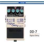 【非凡樂器】BOSS DD-7 數位延遲效果器線/公司貨保固