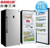 【佳麗寶】-(台灣三洋SANLUX)410L直立式冷凍櫃SCR-410A