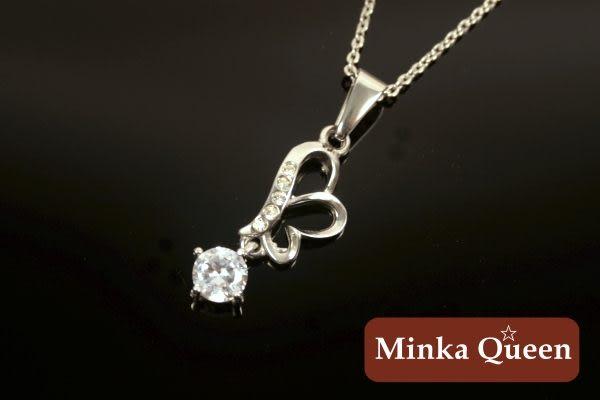 Minka Queen 品牌 德國鈦鋼 八心八箭水鑽百搭項鍊