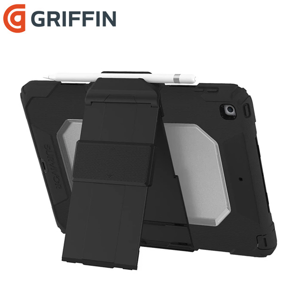Griffin Survivor All-Terrain iPad 10.2吋 多重防護保護套組-黑/透明