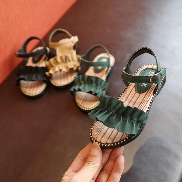 夏季新款韓版女童涼鞋兒童時尚平底公主鞋小孩露趾百搭鞋子潮 衣櫥の秘密