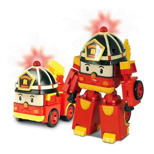 《 POLI 波力 》變形車系列 - LED變形羅伊 ╭★ JOYBUS玩具百貨